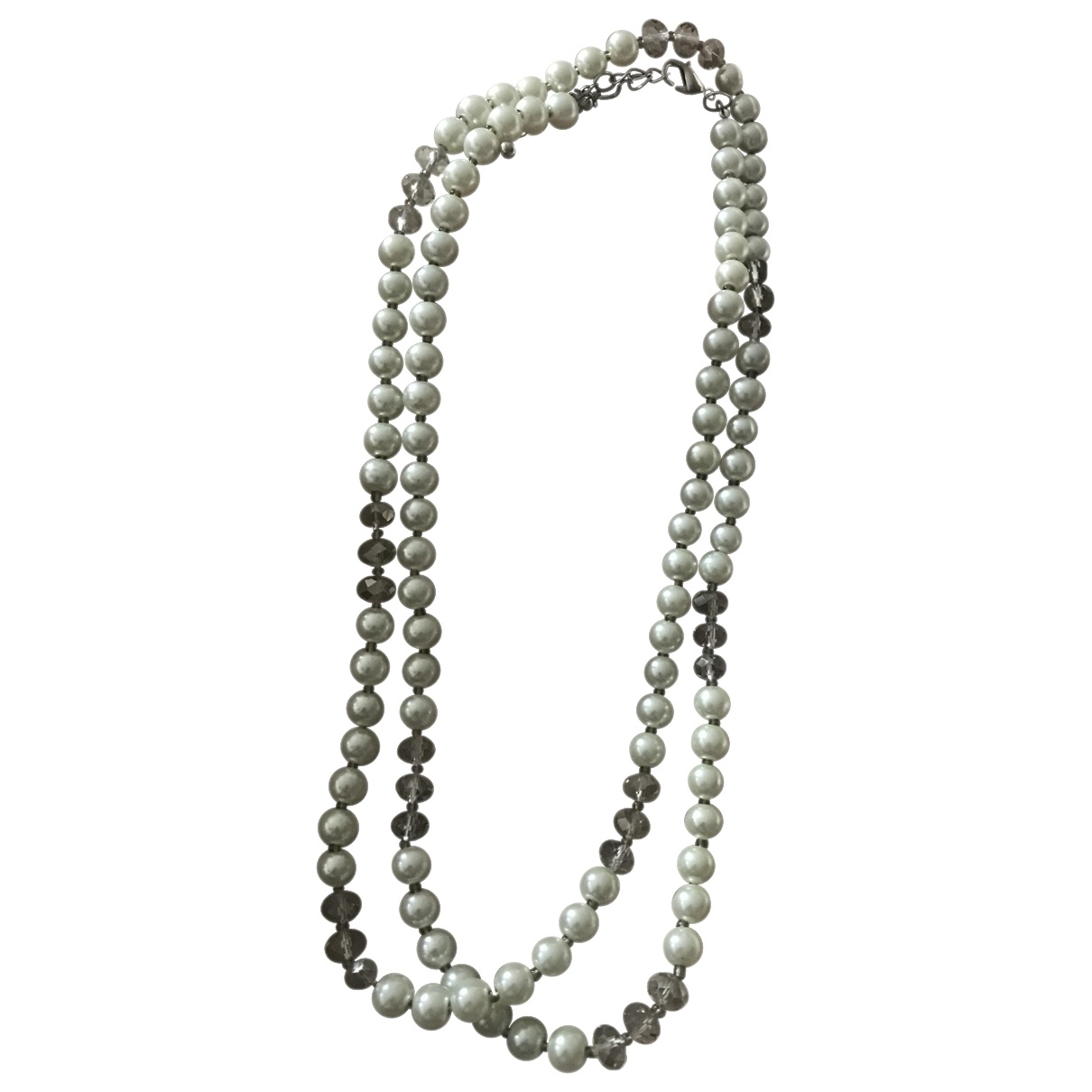 Non Signé / Unsigned \N White Pearls Long necklace for Women \N