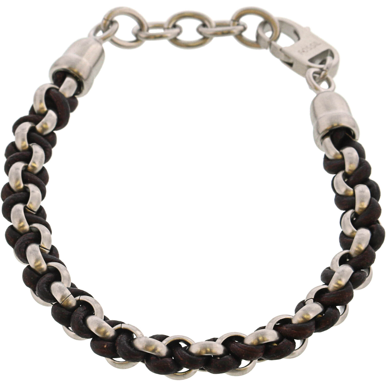 Fossil Men's Woven Bracelet Link JF02936040
