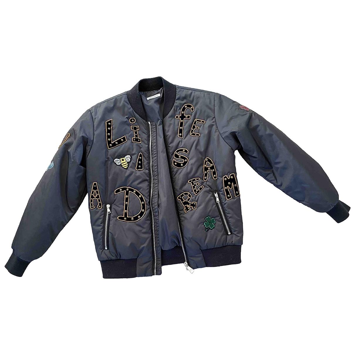 Dolce & Gabbana - Blousons.Manteaux   pour enfant - anthracite