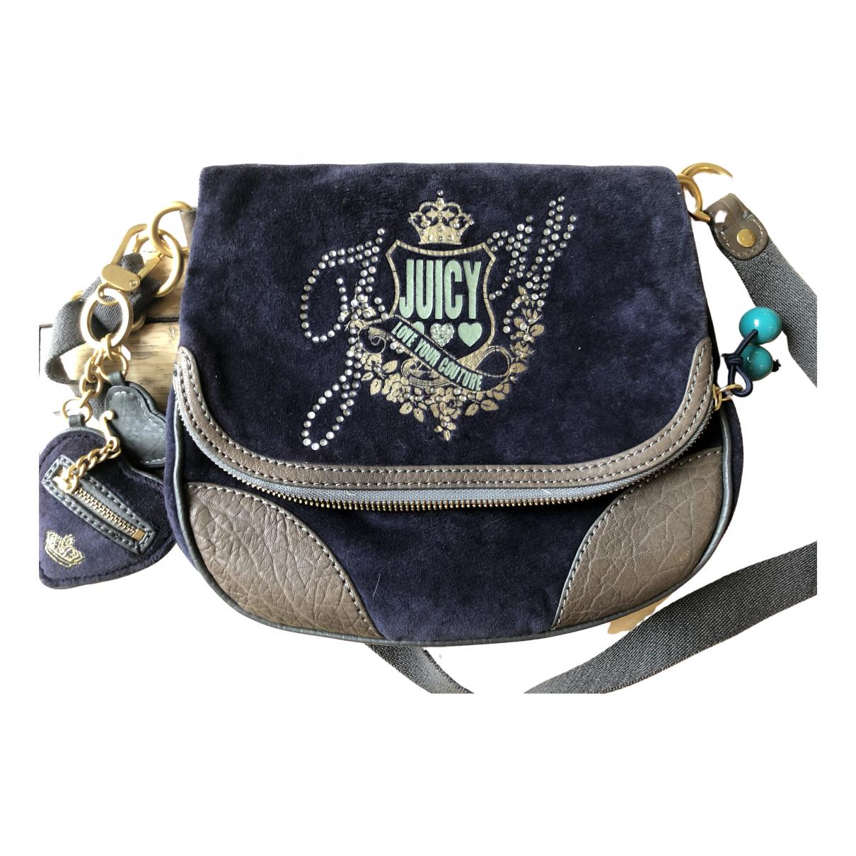 Juicy Couture - Sac a main   pour femme en velours - bleu