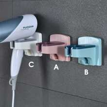 1pc Wall Mounted Hair Dryer Stand