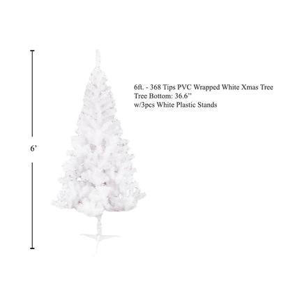 Sapin de Noël blanc 6 pieds