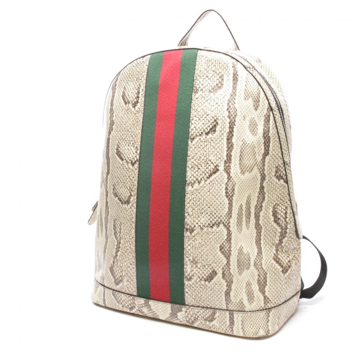 Gucci - Sac a dos Animalier pour femme en python - multicolore