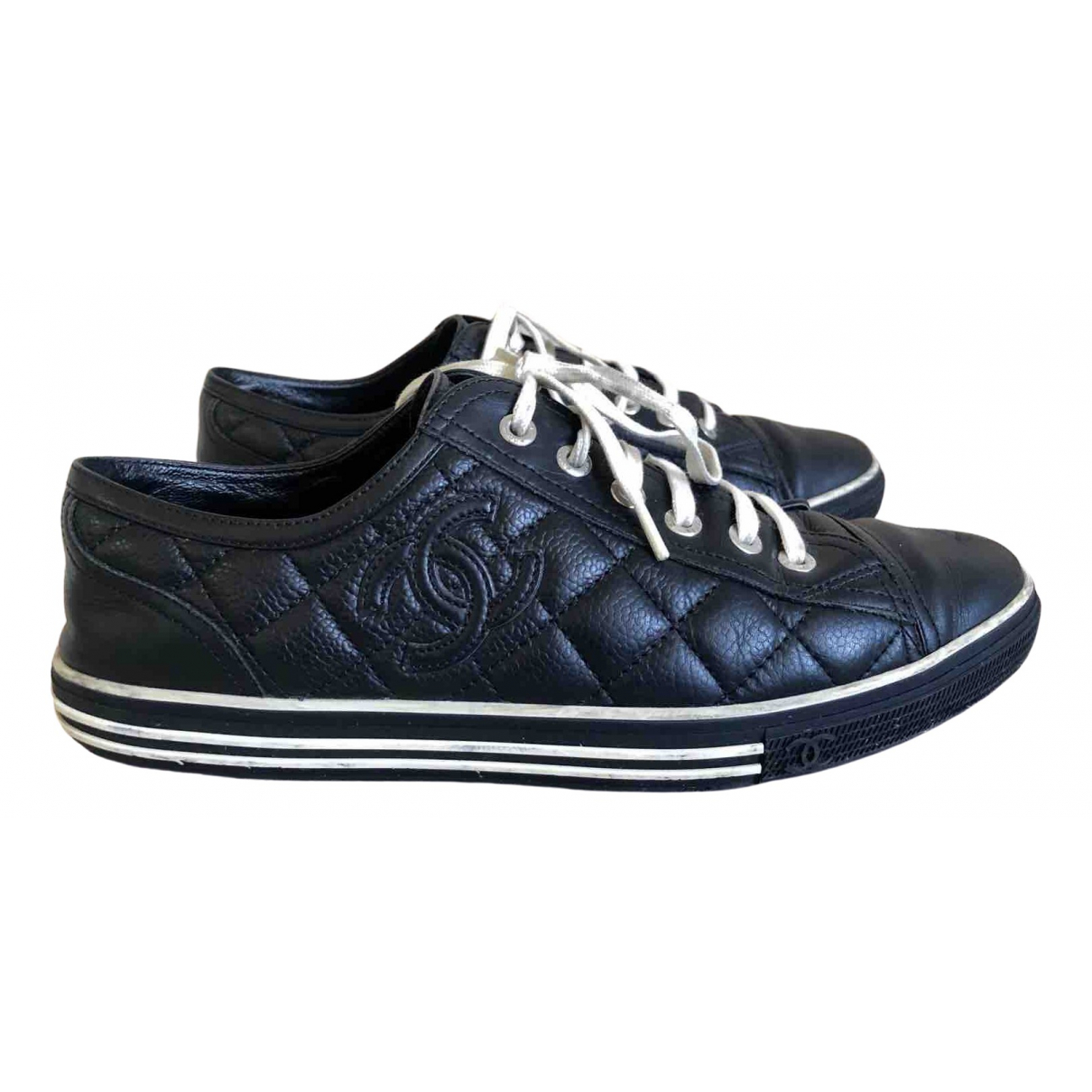 Chanel \N Black Leather Trainers for Women 38 EU