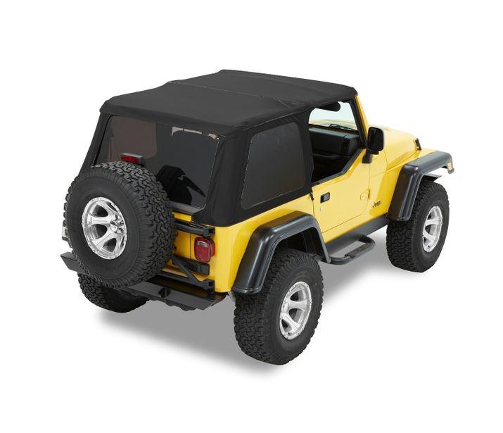 Bestop 56820-35 Black Diamond Trektop Soft Top Jeep Wrangler 1997-2006