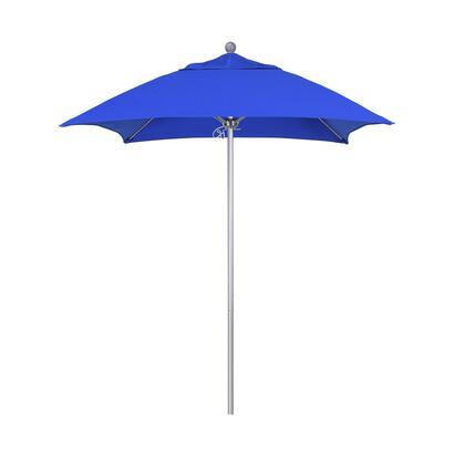 ALTO604002-5401 6' Venture Series Commercial Patio Umbrella With Silver Anodized Aluminum Pole Fiberglass Ribs Push Lift With Sunbrella 1A Pacific