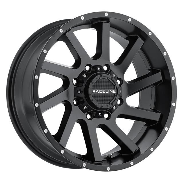 Raceline Twist Satin Black 20x9 6x139.7/5.5
