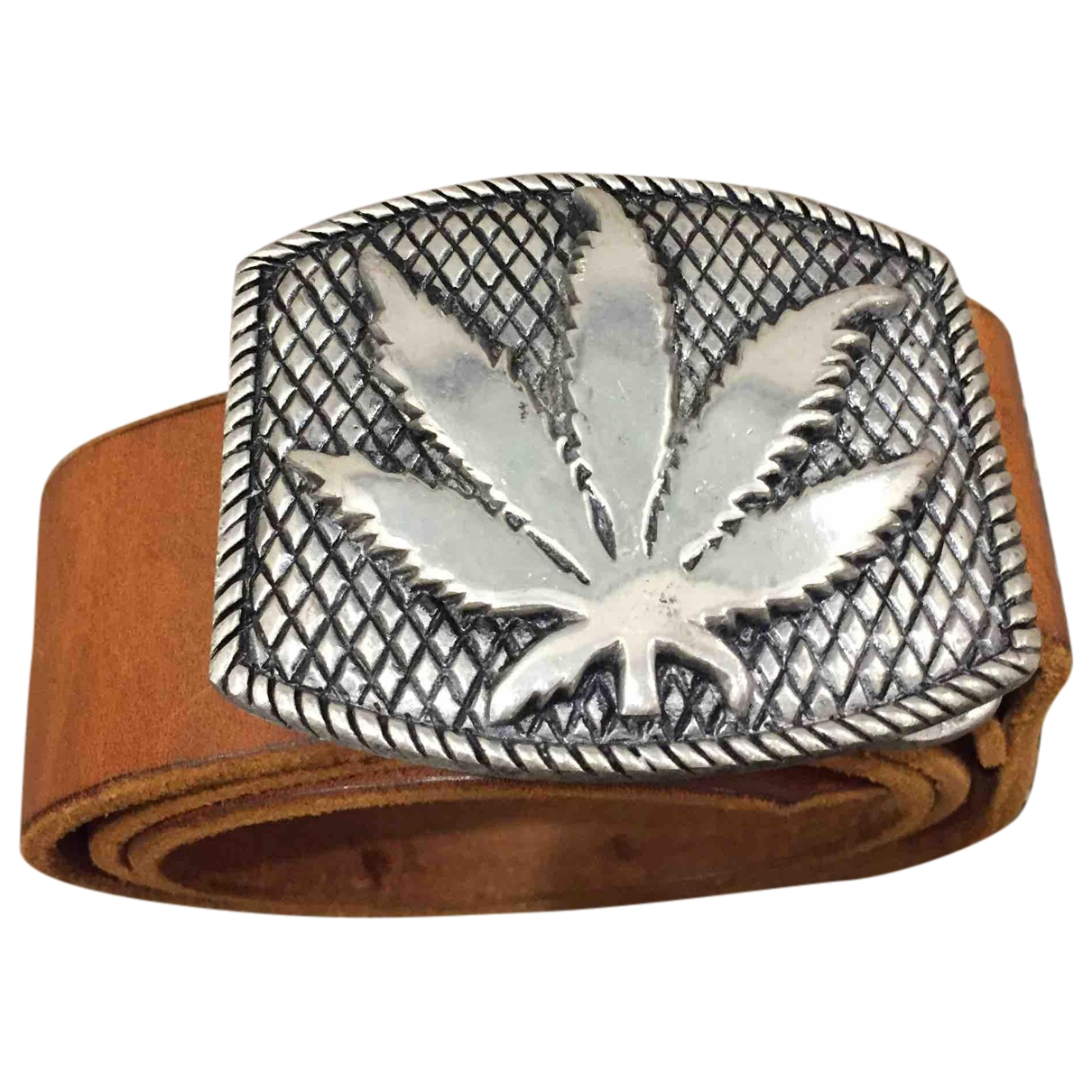 Lucien Pellat Finet \N Camel Leather belt for Women 75 cm
