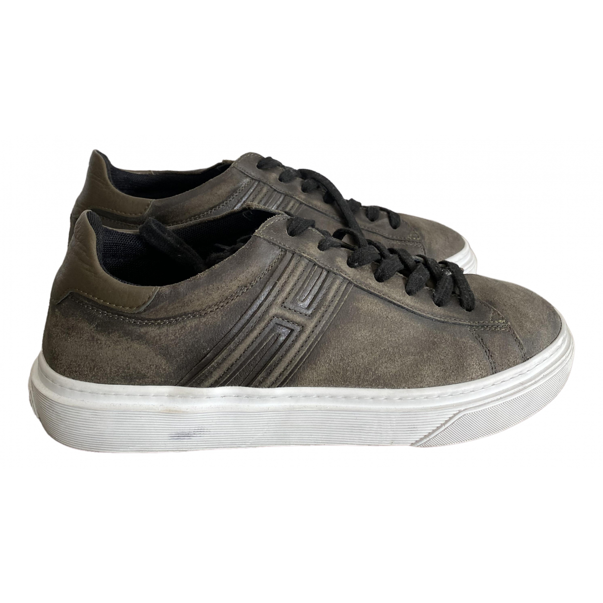 Hogan \N Brown Leather Trainers for Men 39.5 EU