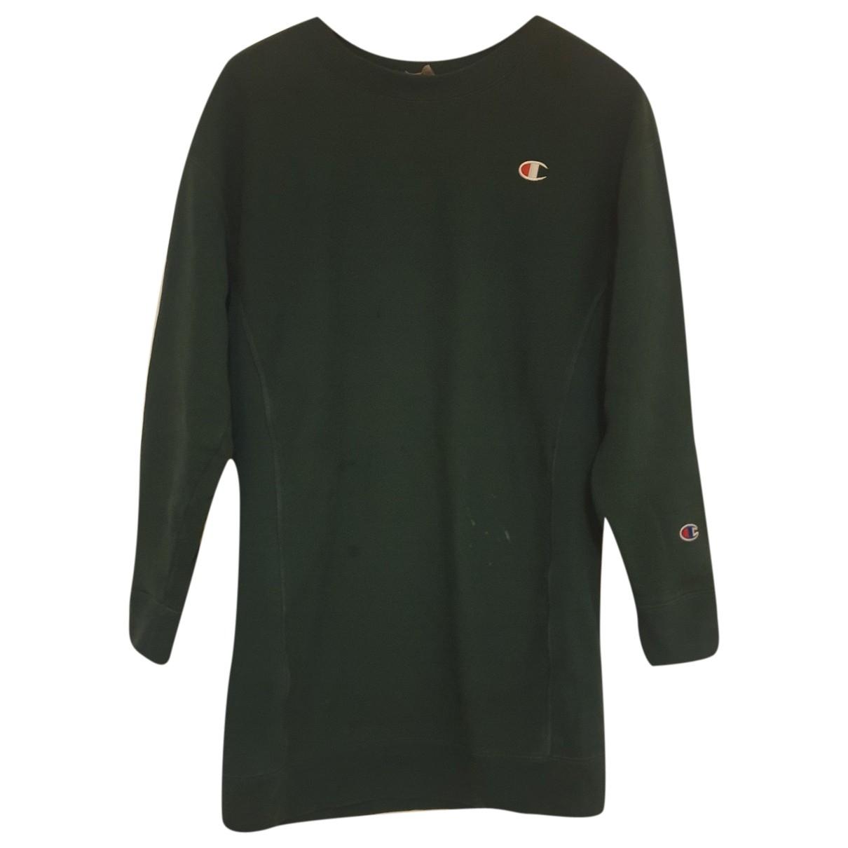 Champion - Robe   pour femme en coton - vert