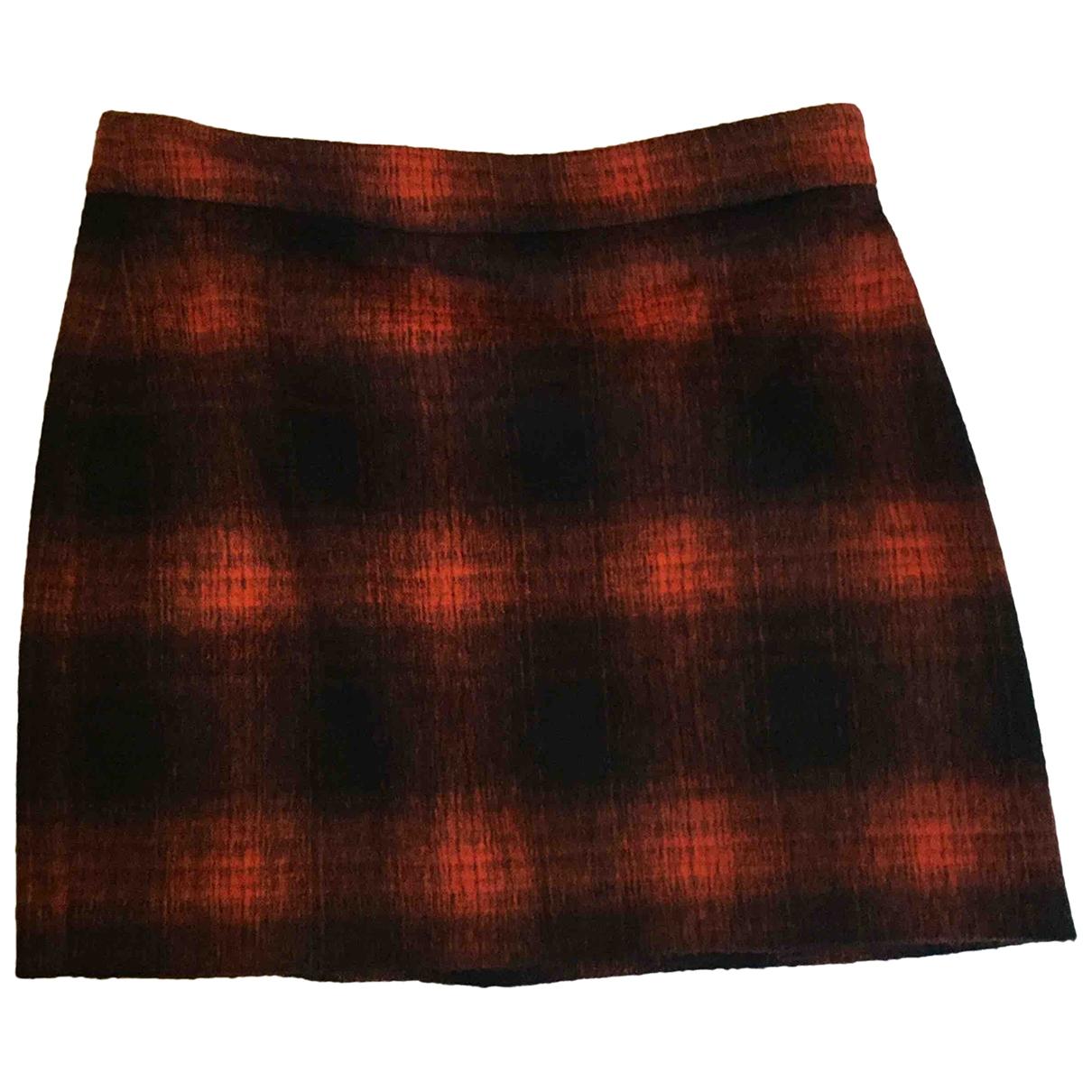 Paul Smith - Jupe   pour femme en laine - rouge