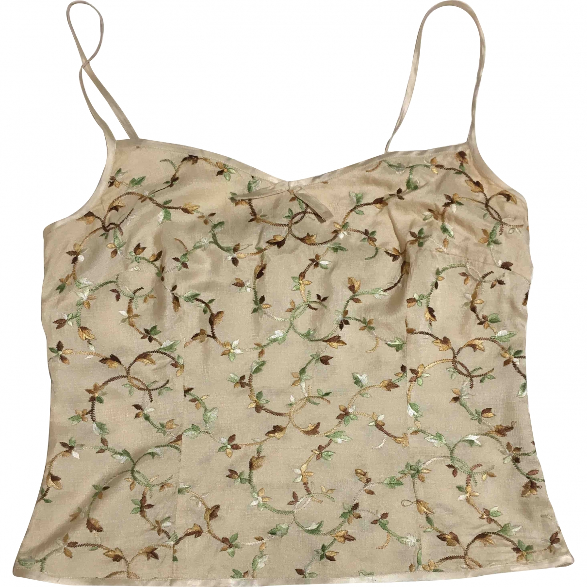 Sport Max \N Beige Silk  top for Women 10 UK