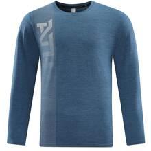 Sports T-Shirt mit Buchstaben Grafik und langen Ärmeln