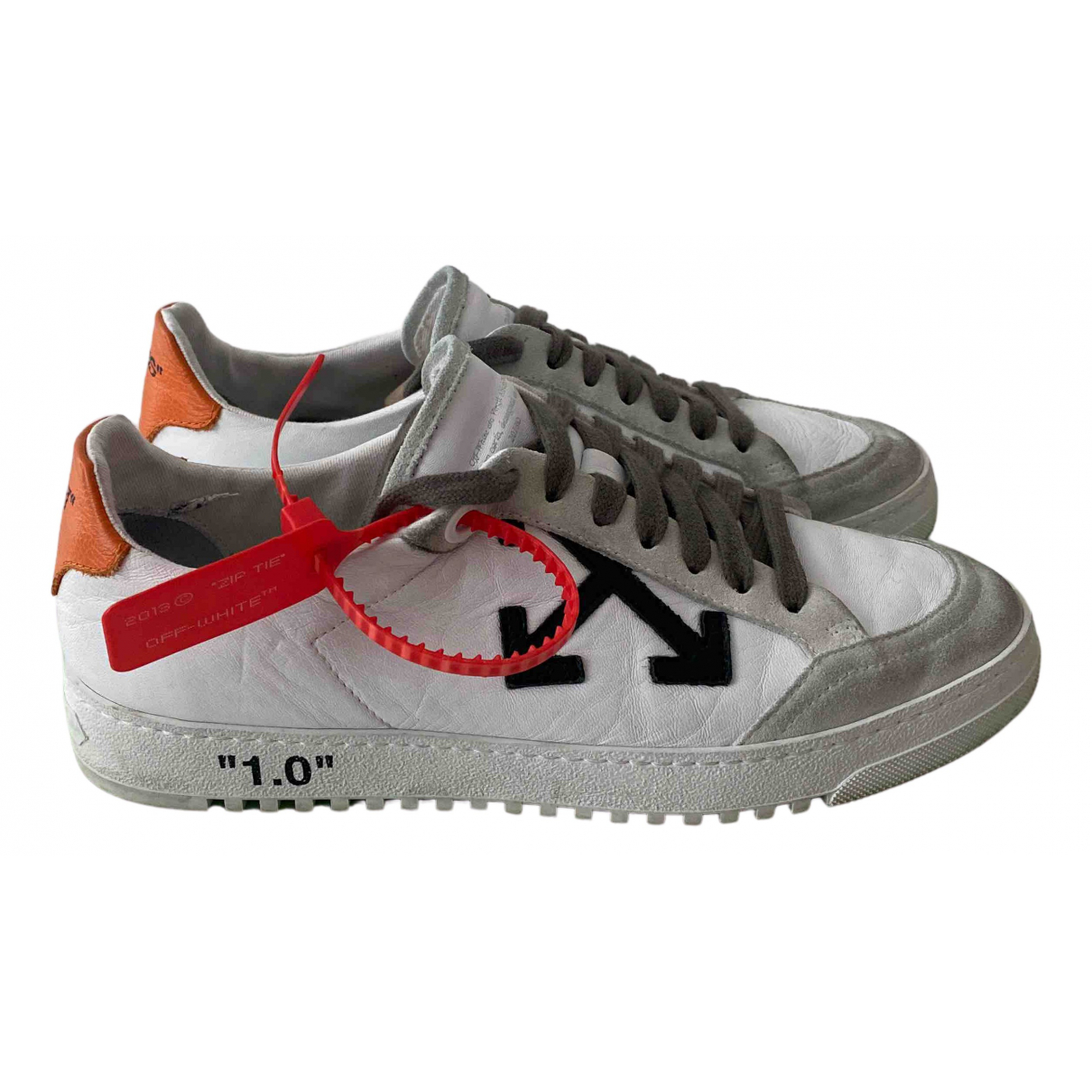 Off-white \N White Leather Trainers for Men 39 EU