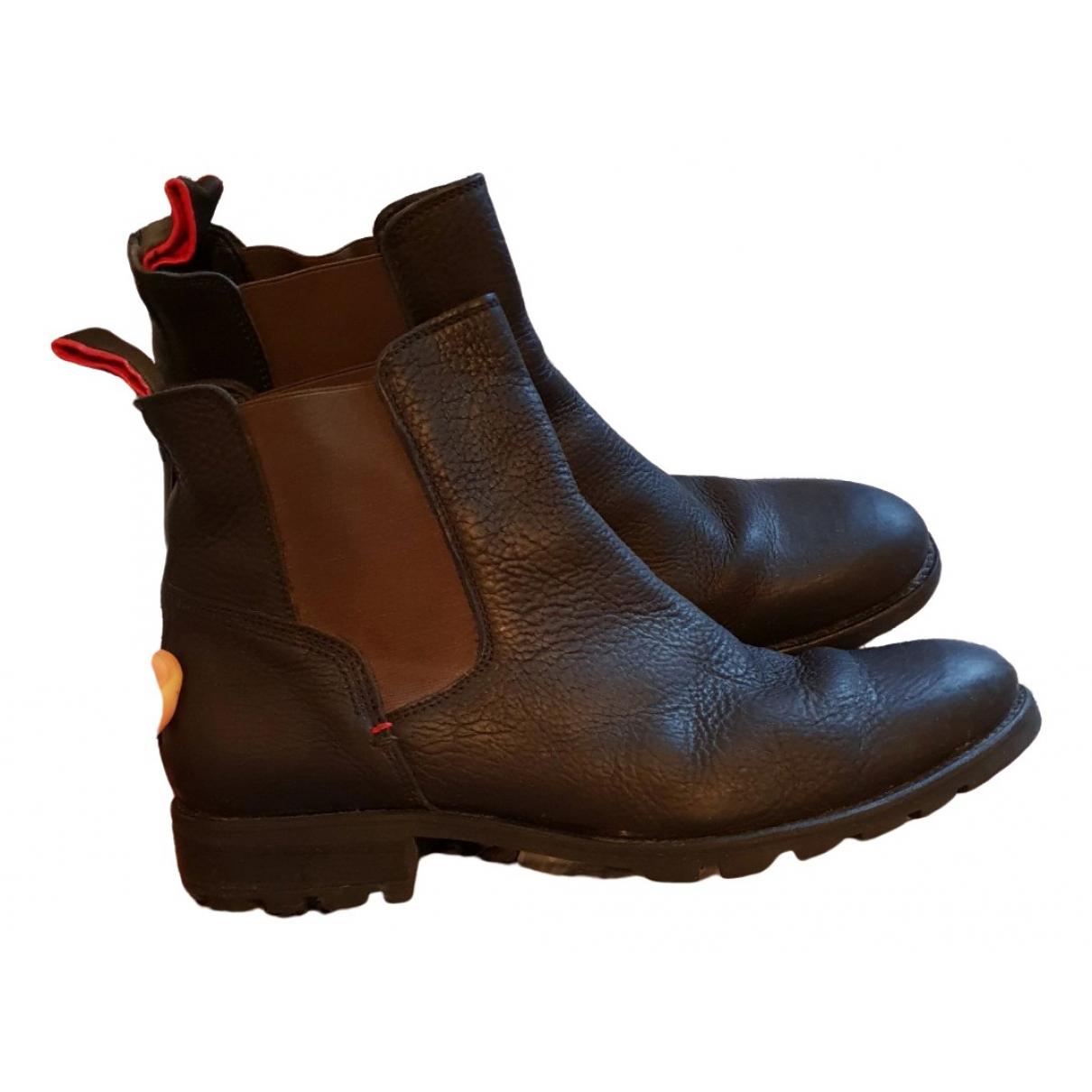 Tommy Hilfiger \N Multicolour Leather Boots for Men 44 EU