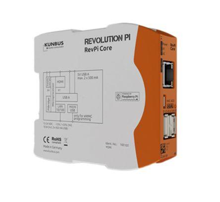 Kunbus RevPi Core 3, Industrial Computer, 700 MHz Quad-Core, BCM2835 700 MHz, 500 MB (RAM), 4 GB (Flash), Linux