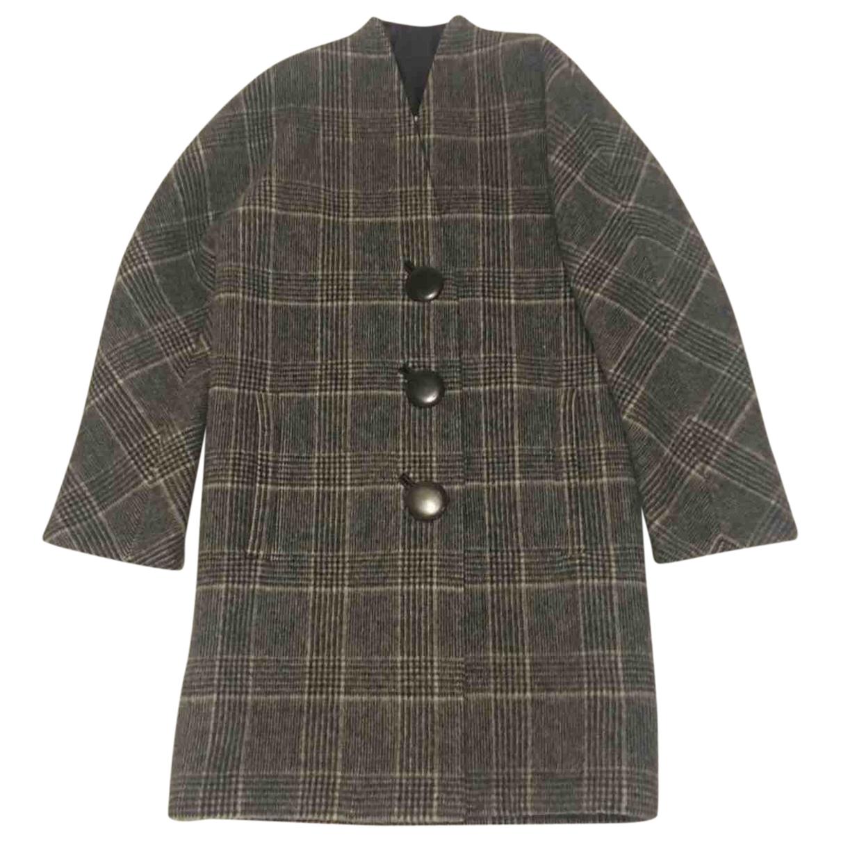 Balenciaga - Manteau   pour femme en laine - multicolore