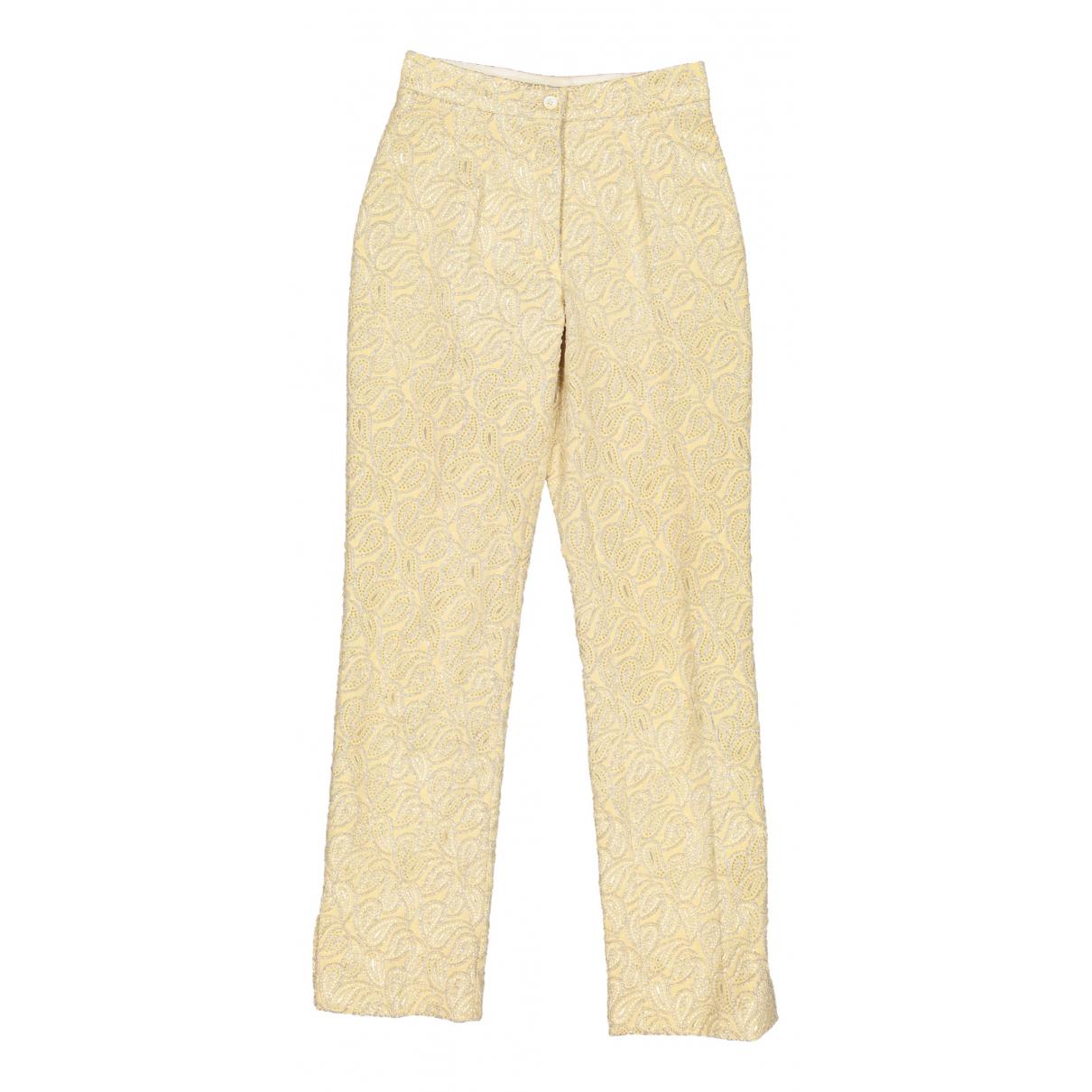 Celine N Ecru Trousers for Women 36 FR