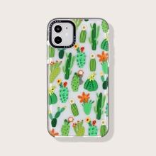 Transparente iPhone Etui mit Kaktus Muster