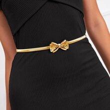 Bowknot Buckle Metal Waist Belt