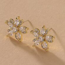 Floral Shaped Stud Earrings