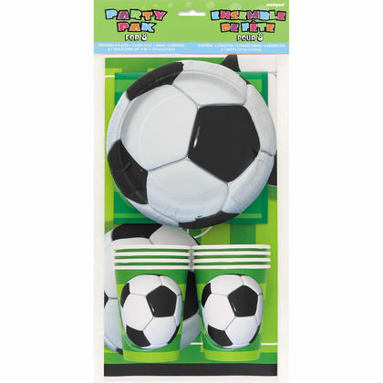 3D Soccer Ball Party Pack for 8 For Birthday Party