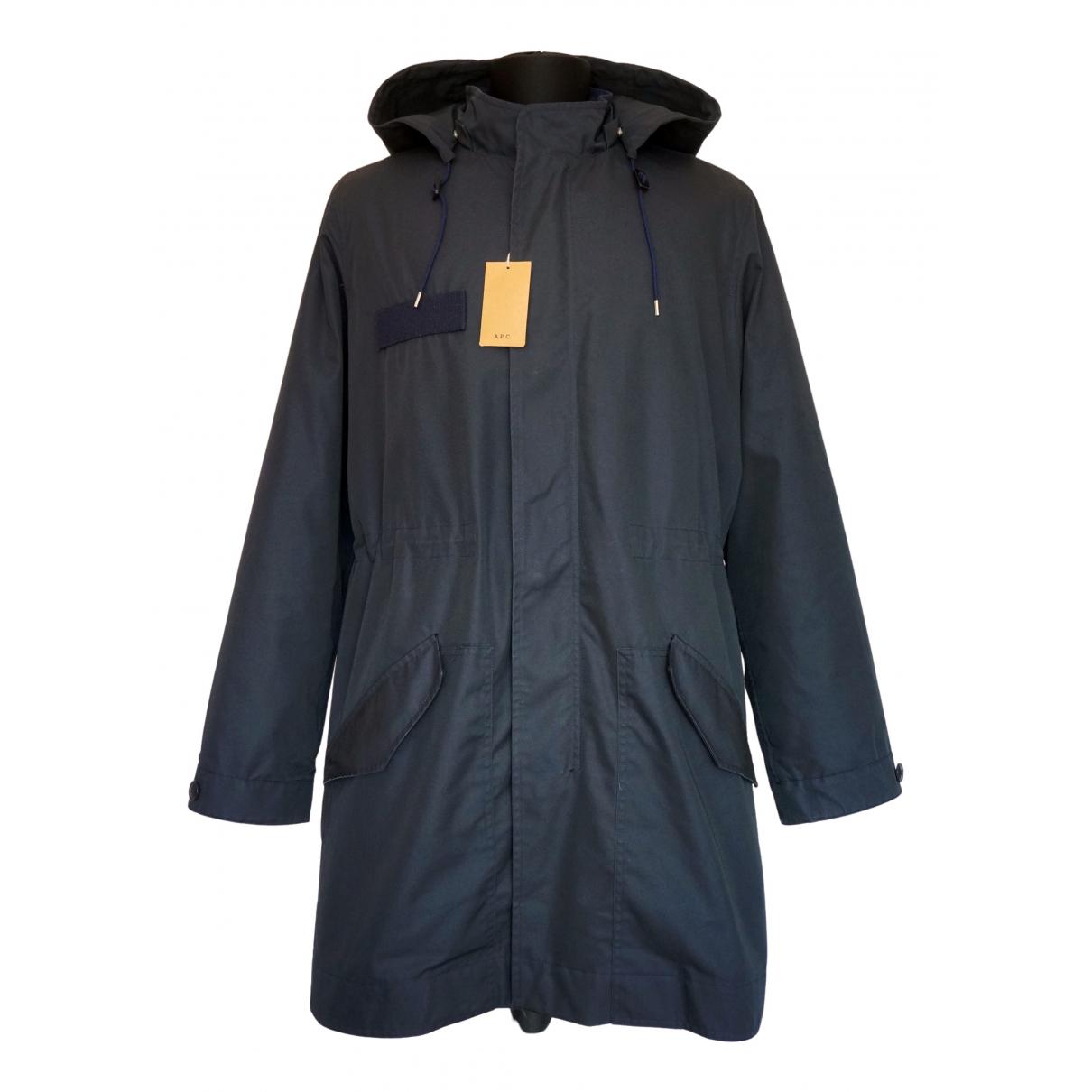 Apc N Navy Cotton coat  for Men L International