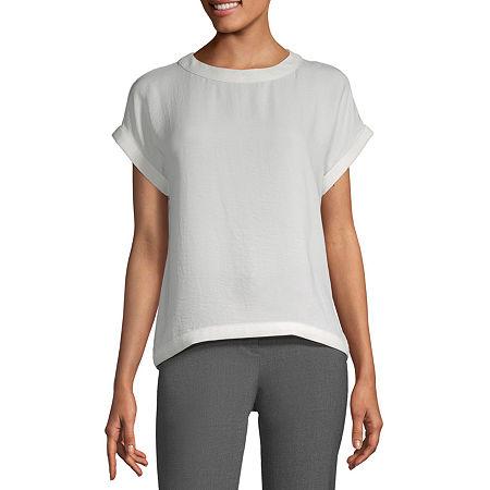 Worthington Womens Dolman Clean Shell - Tall, Large Tall , White