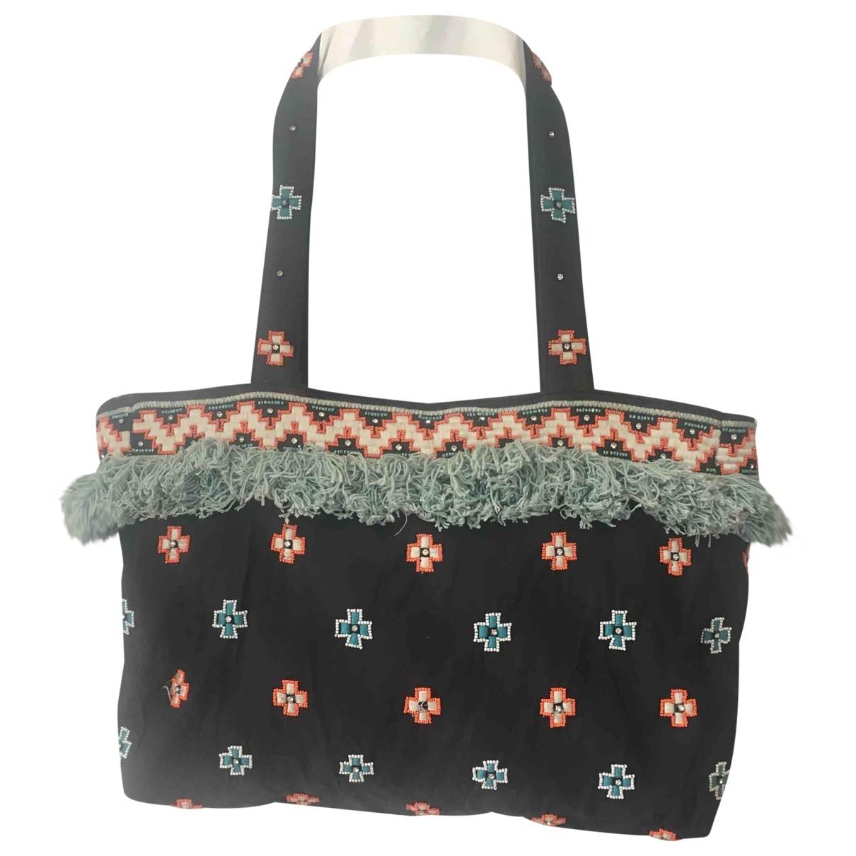 Petite Mendigote \N Handtasche in  Schwarz Baumwolle