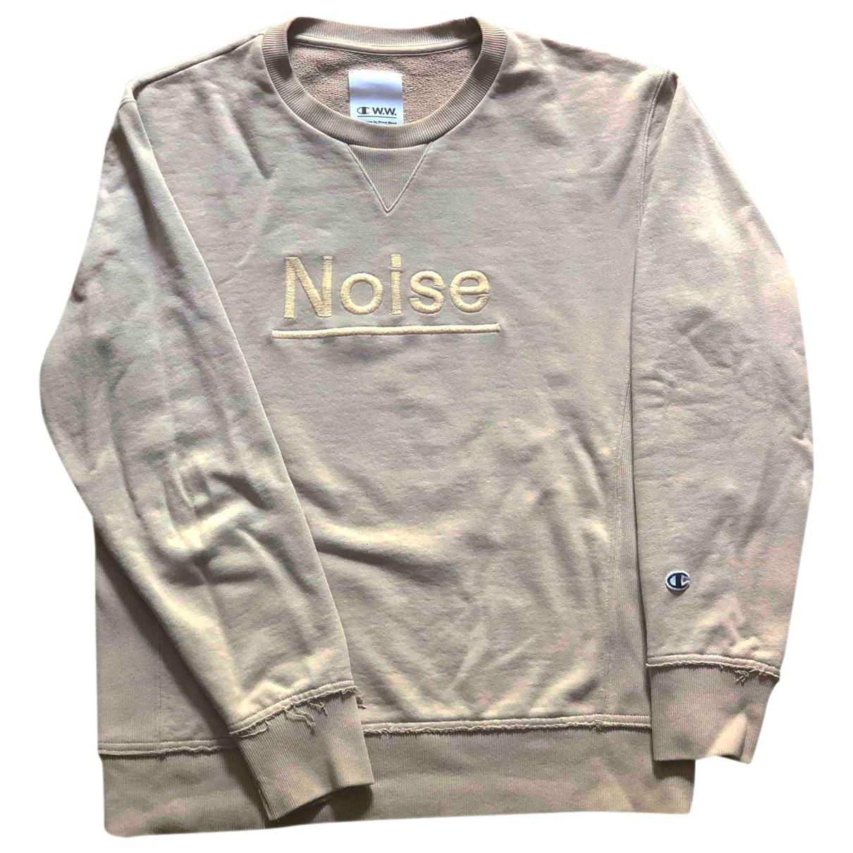 Wood Wood \N Pullover.Westen.Sweatshirts  in  Beige Baumwolle