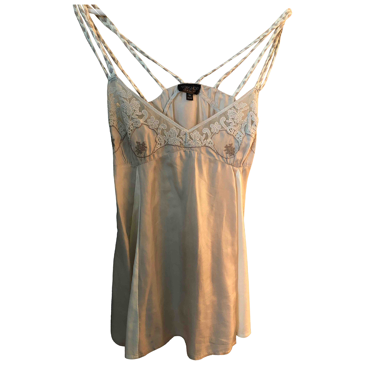 tophop N Beige Silk  top for Women 34 FR
