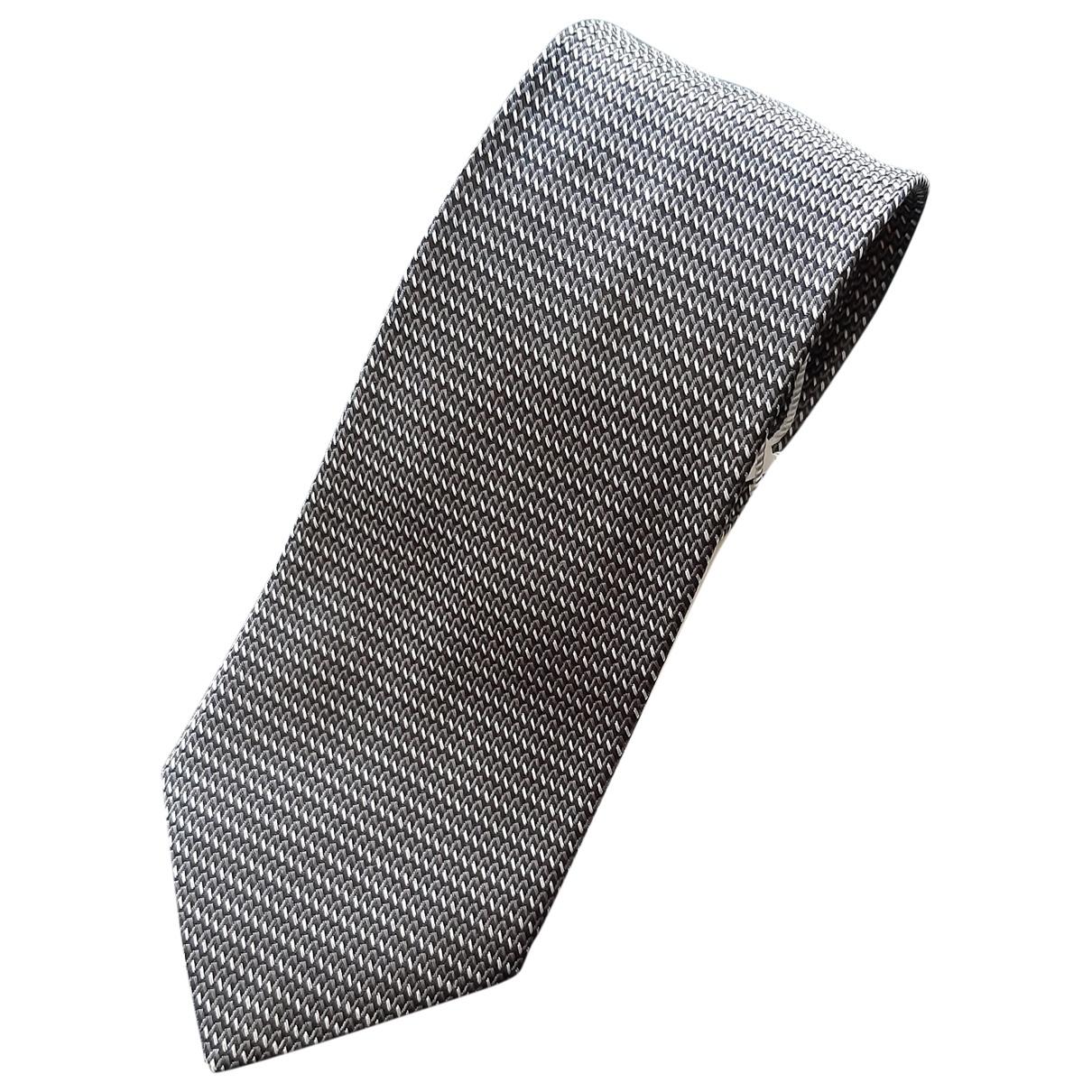 Armani Collezioni \N Grey Silk Ties for Men \N