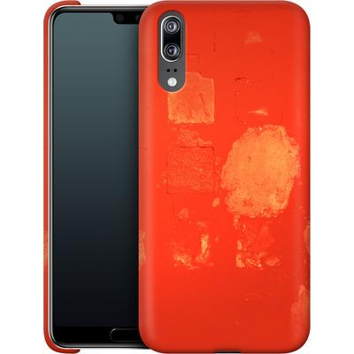 Huawei P20 Smartphone Huelle - Red Block Background von Brent Williams