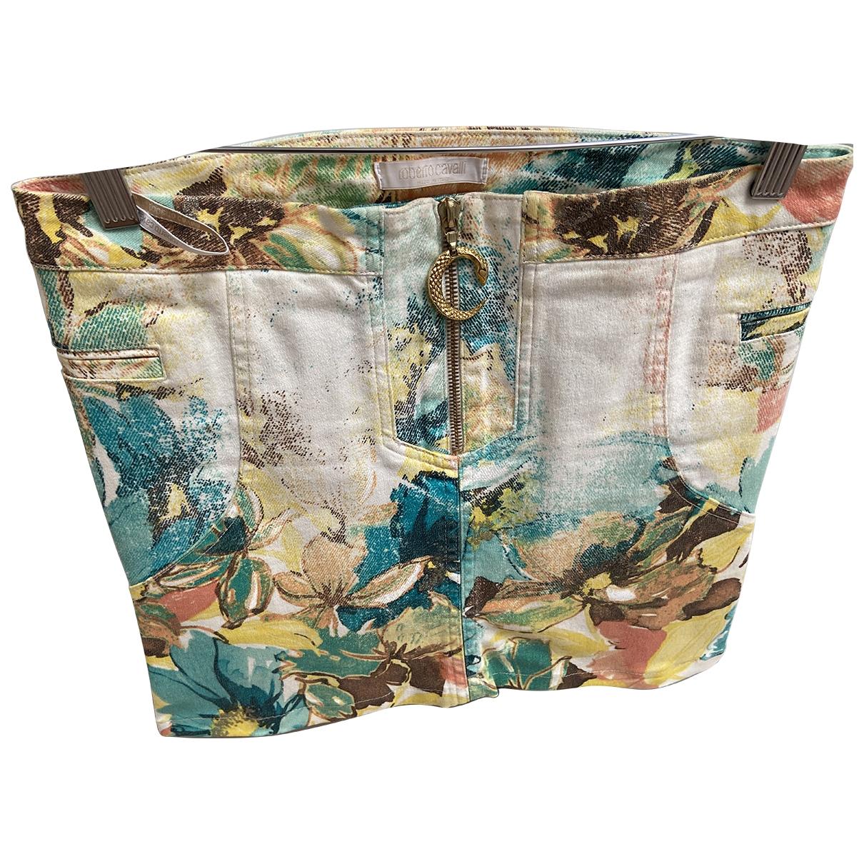 Roberto Cavalli - Jupe   pour femme en coton - multicolore