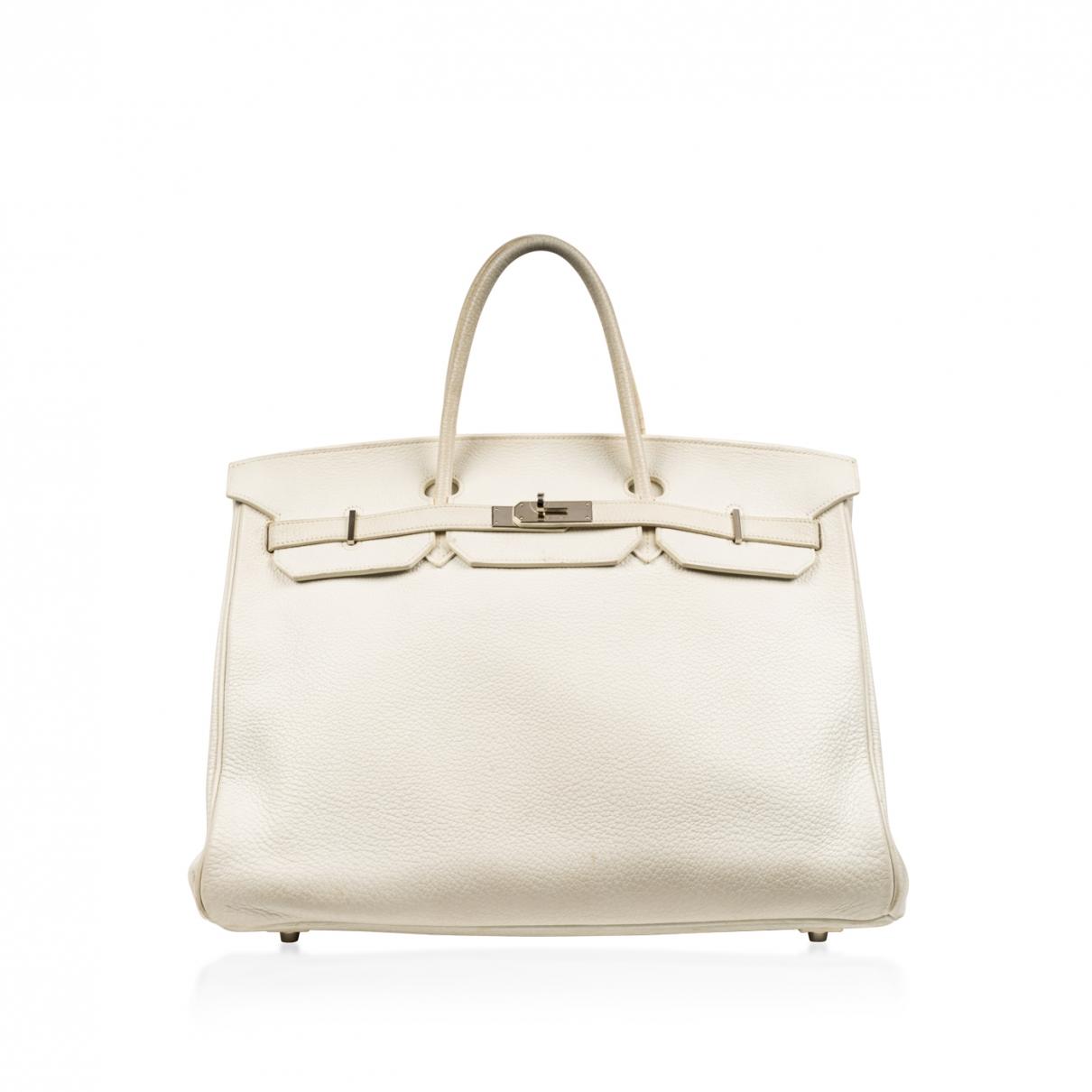 Hermès Birkin 40 White Leather handbag for Women \N