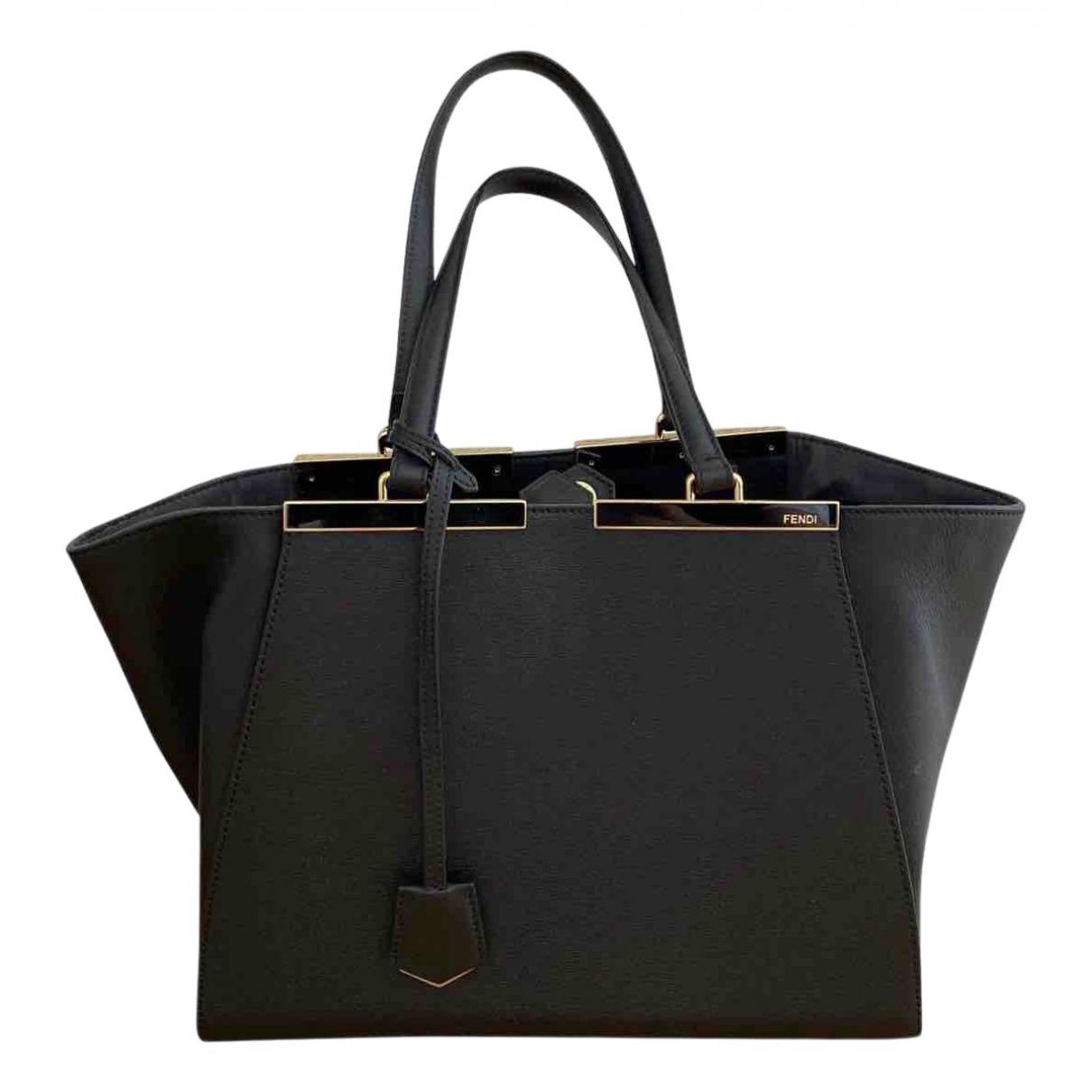 Fendi - Sac a main 3Jours pour femme en cuir - noir