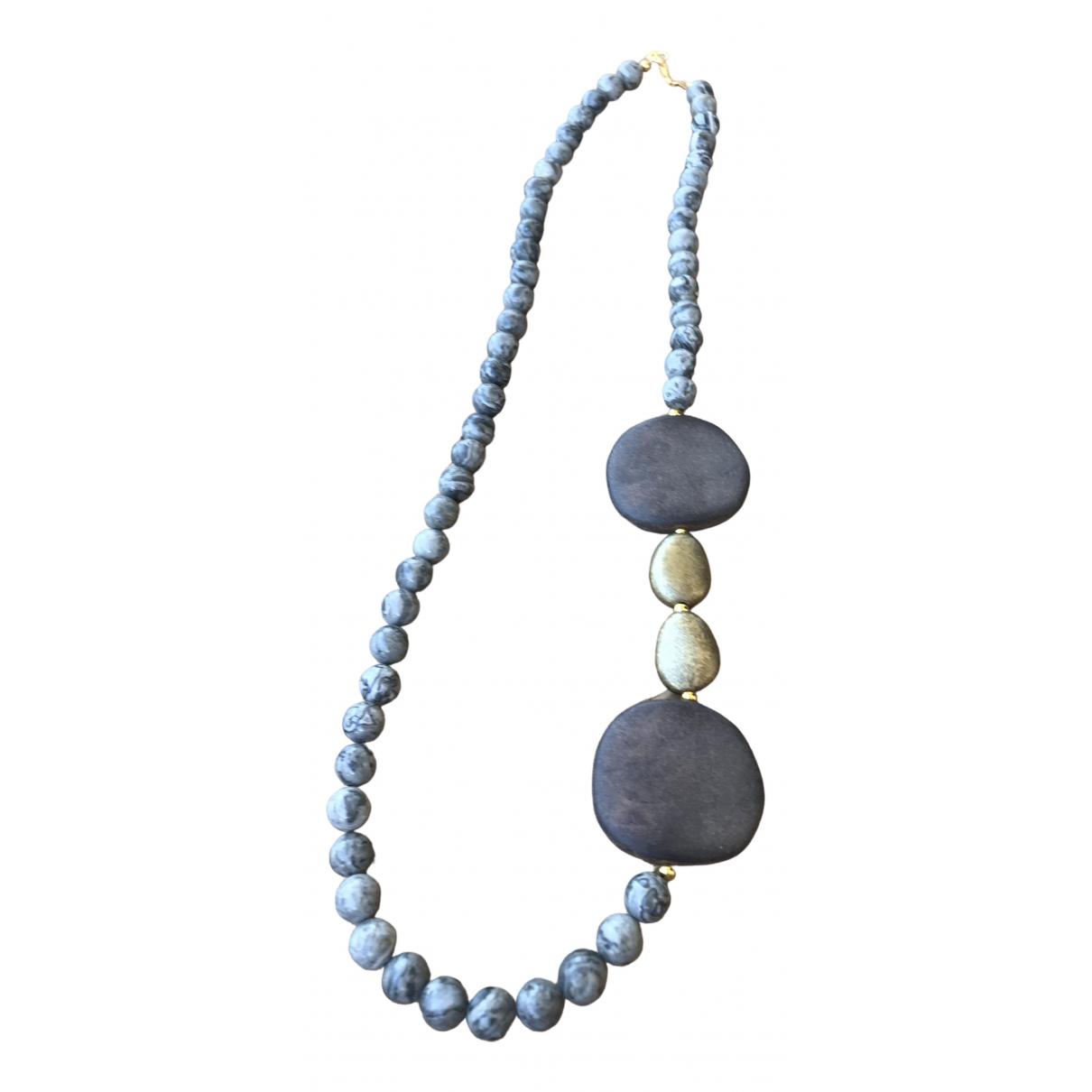 - Collier Agate pour femme en acier - gris