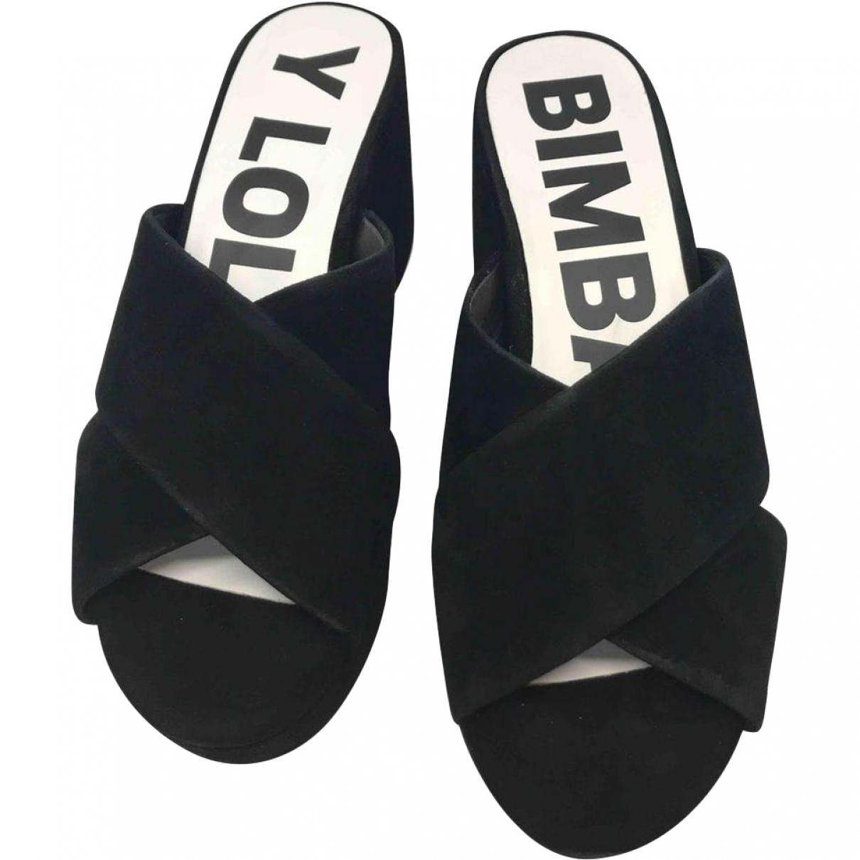 Bimba Y Lola - Sabots   pour femme en suede - noir