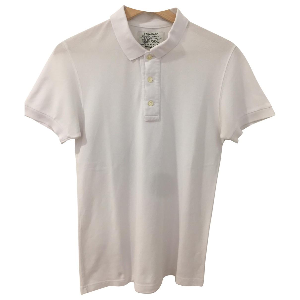 Zara \N White Cotton Polo shirts for Men S International