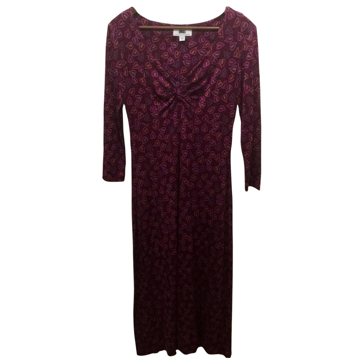 Diane Von Furstenberg \N Burgundy Silk dress for Women 8 US