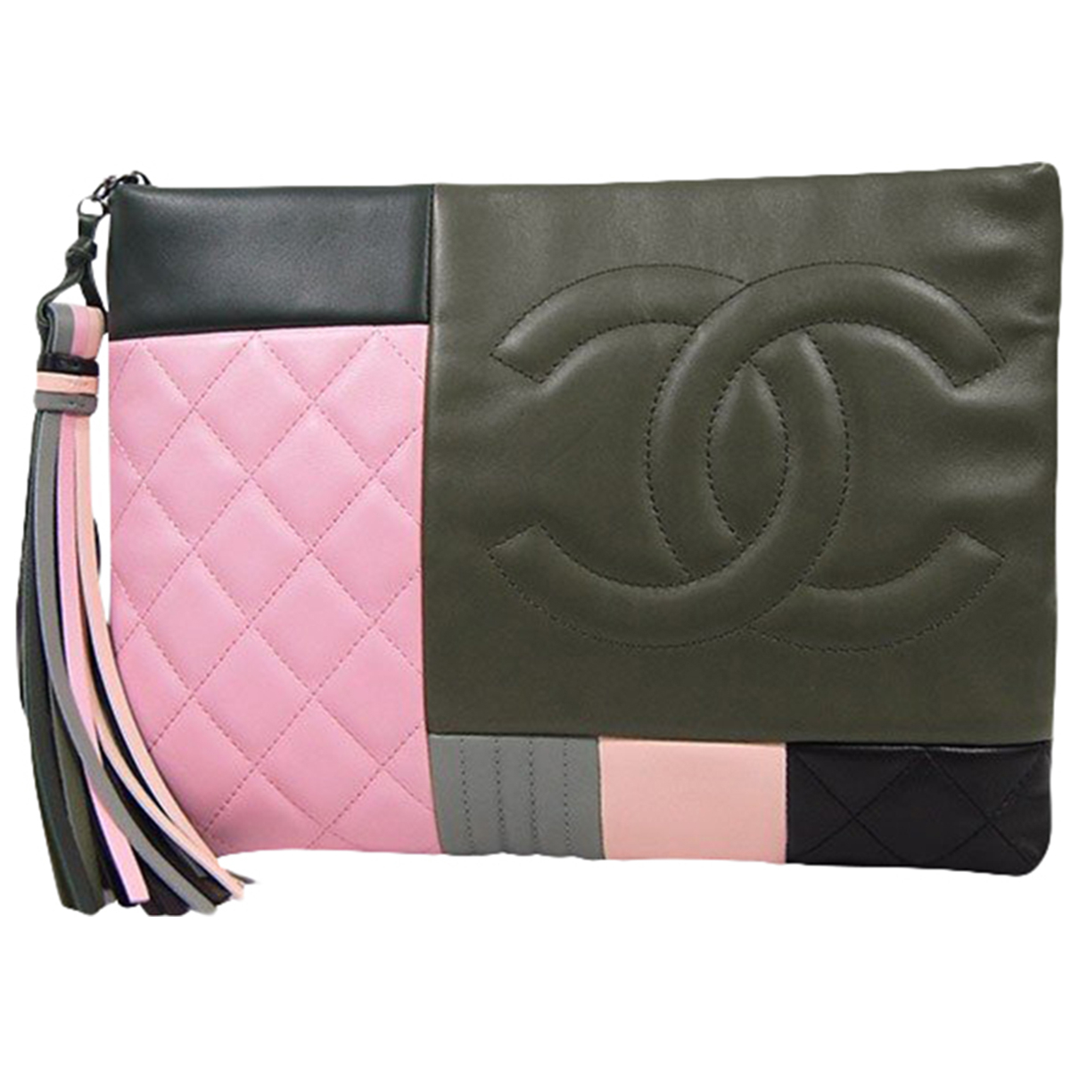 Chanel \N Clutch in  Bunt Leder