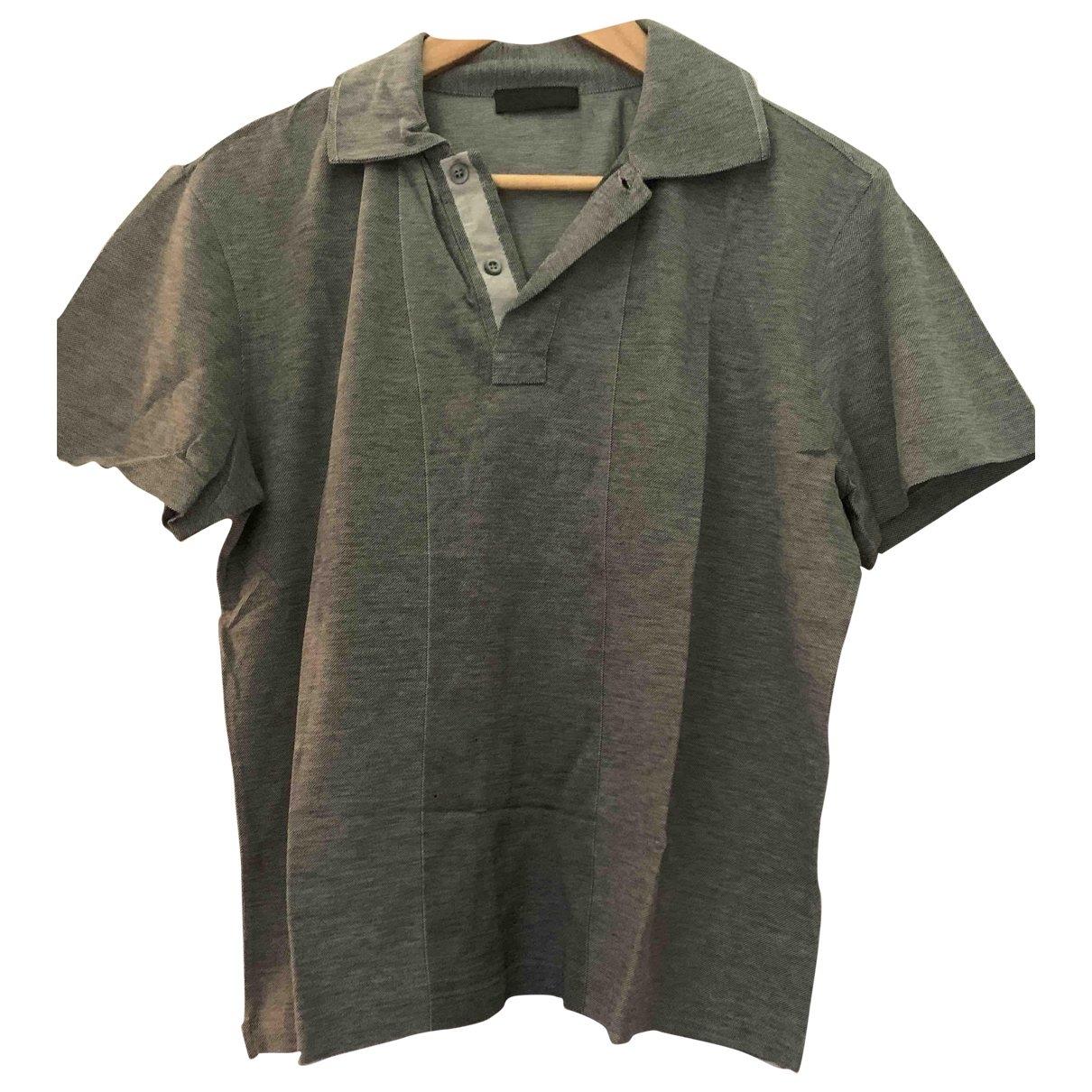 Prada \N Grey Cotton Polo shirts for Men M International