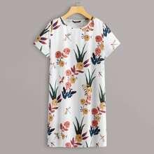 Vestido camista con estampado floral - grande
