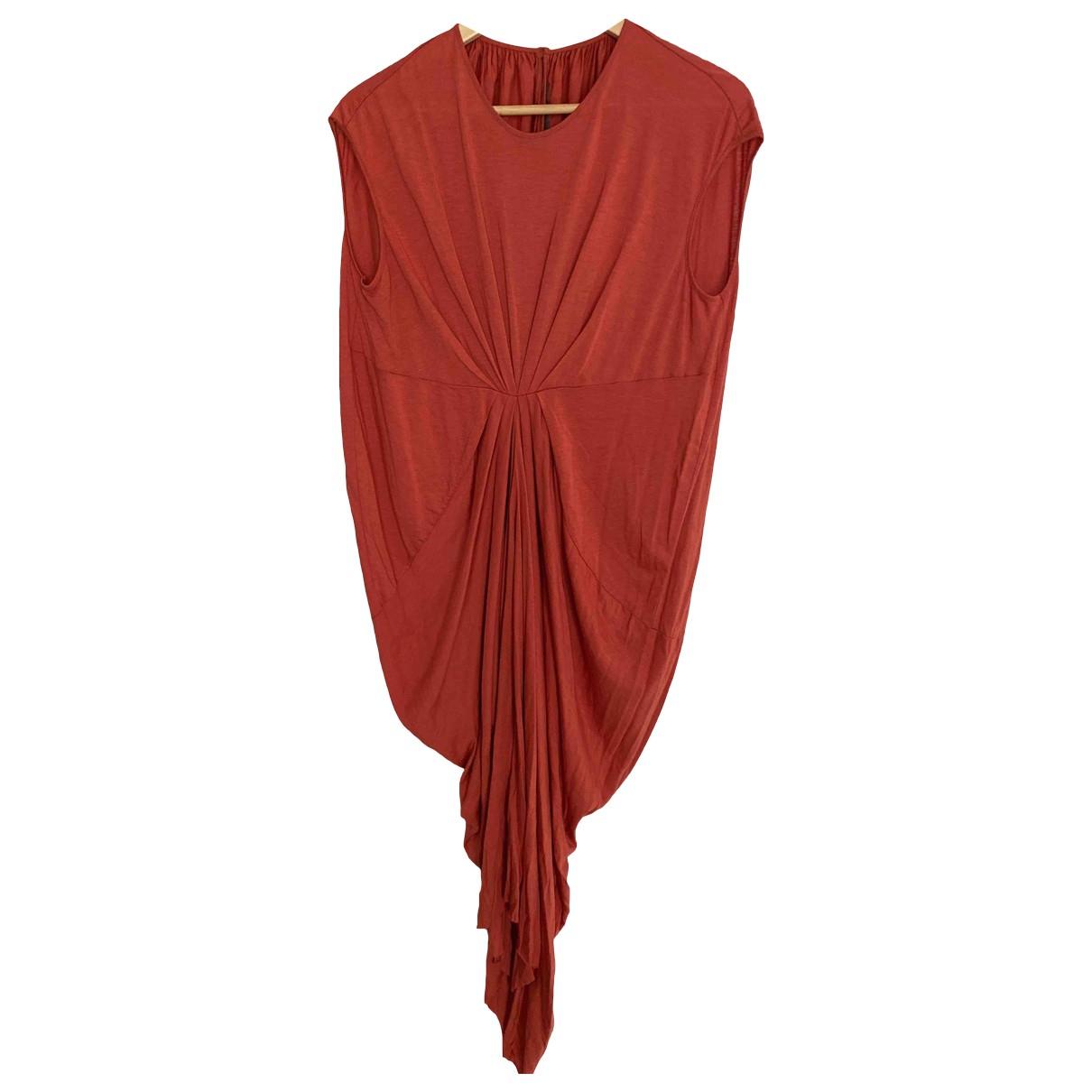Rick Owens Lilies \N Kleid in  Orange Baumwolle