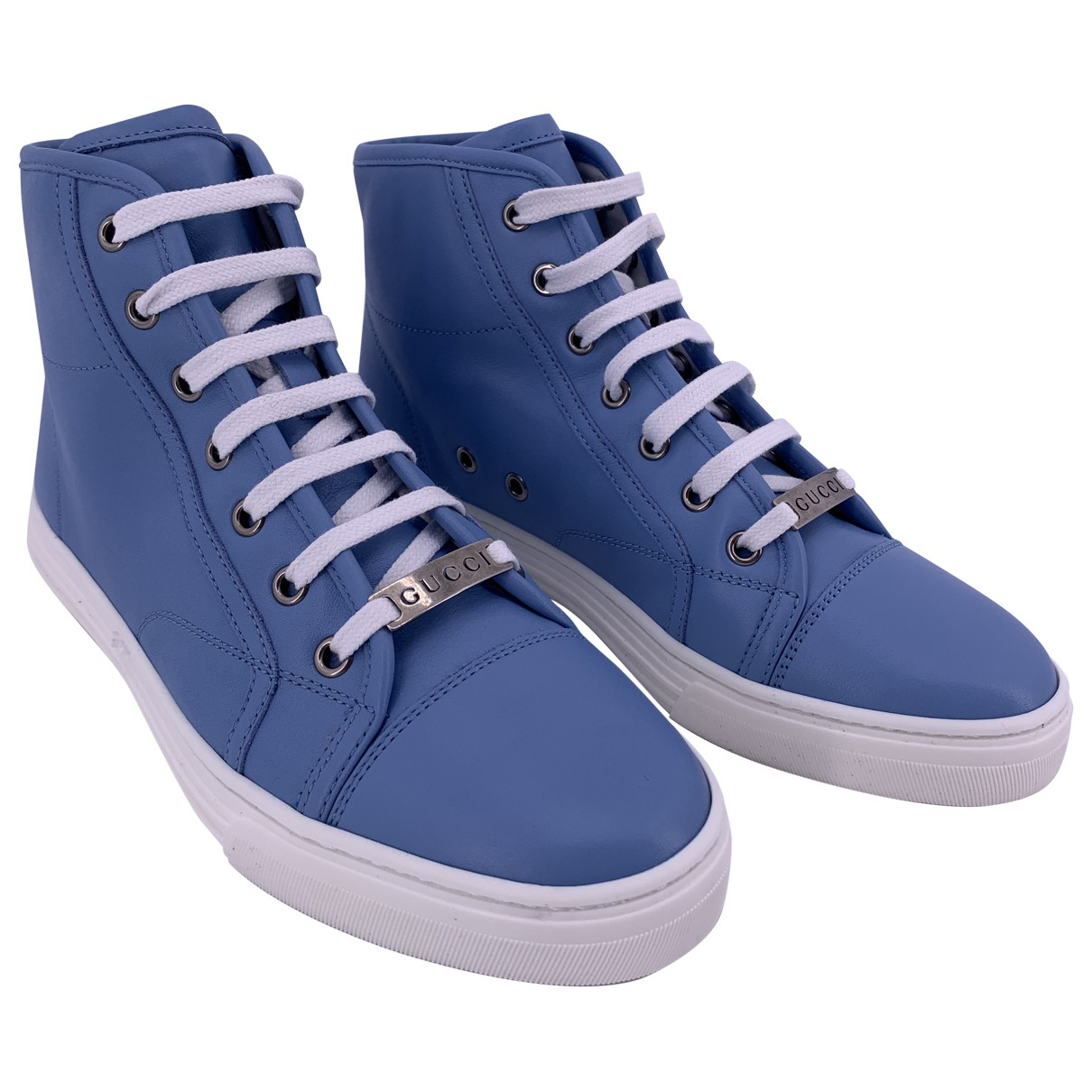 Gucci \N Sneakers in  Blau Leder