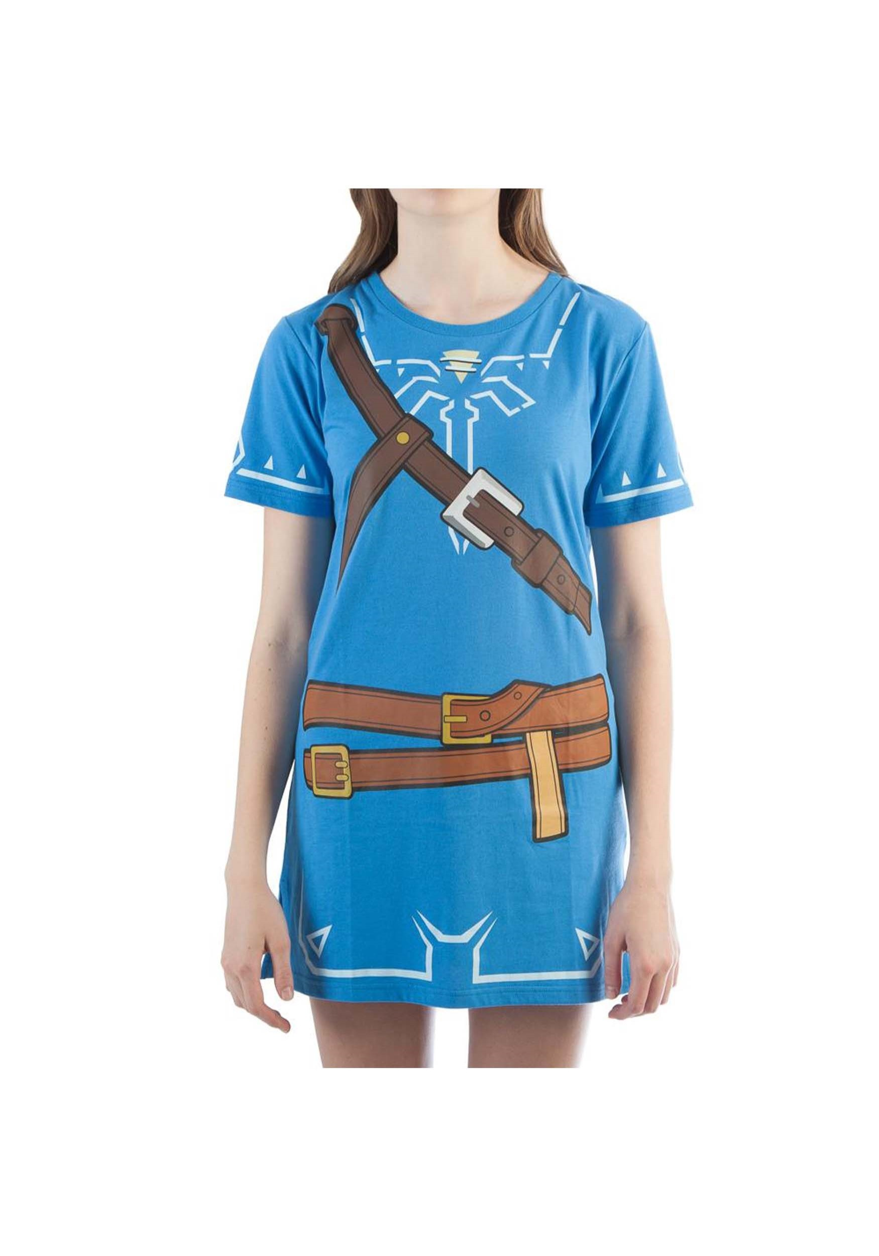 Women's Breath of the Wild Zelda Link Cosplay Costume Tunic