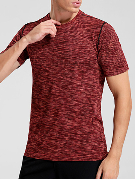 Yoins Men Summer Plain Sport Running Breathable T-Shirt