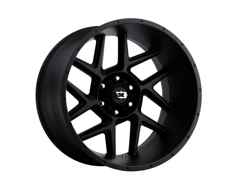 Vision Wheels 360-24283SB-57 Sliver Wheel 24x12 6x139.70x57 BKMTXX Satin Black