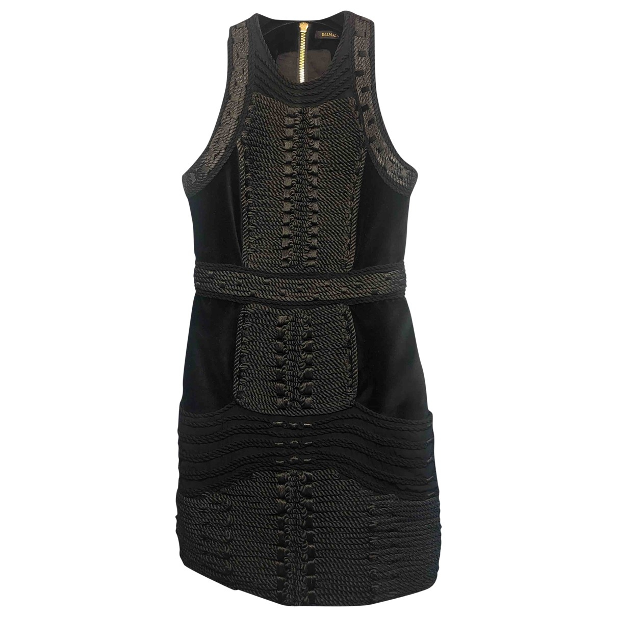 Balmain For H&m - Robe   pour femme en coton - noir