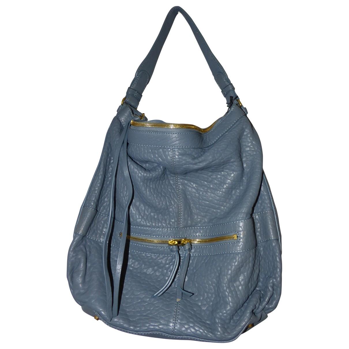 Gerard Darel Midday Midnight Grey Leather handbag for Women \N